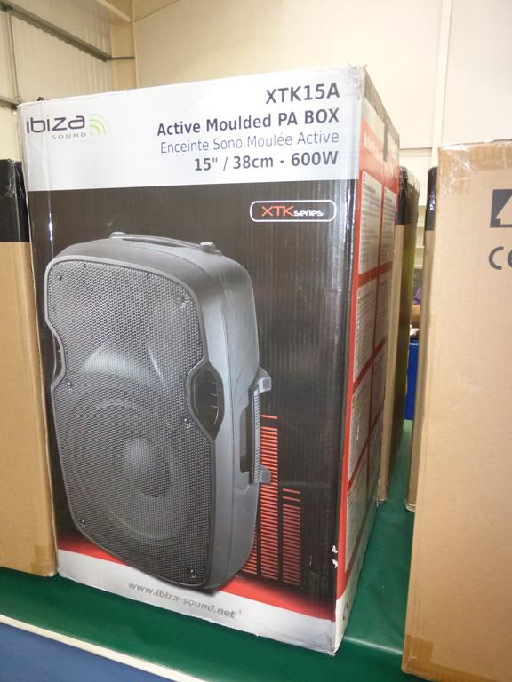 Lot 13 - * Ibiza Sound XTK15A 600W 15'' Active Moulded PA Box Speaker, RRP £128