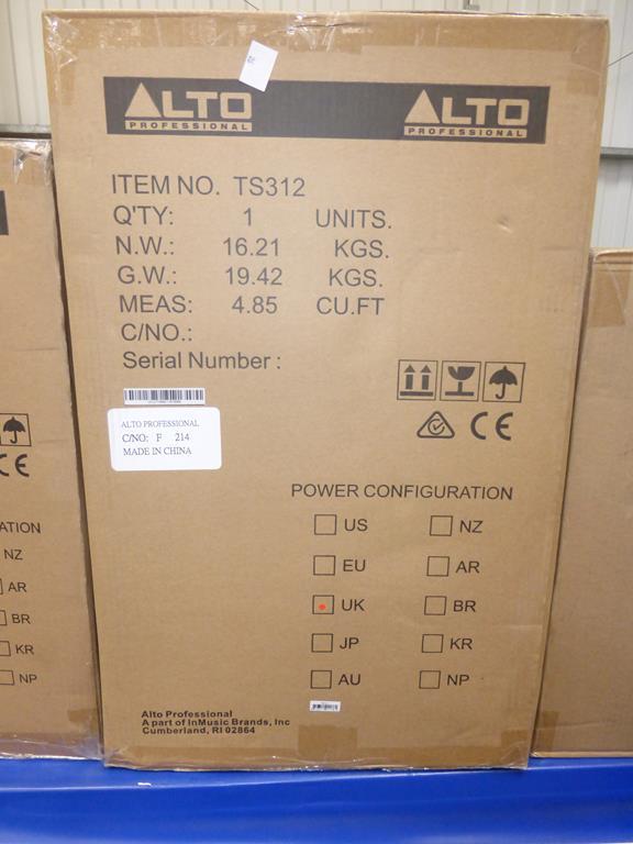 Lot 26 - * Alto Professional TS312 2000W 12'' Active Full Range Speaker, RRP £253