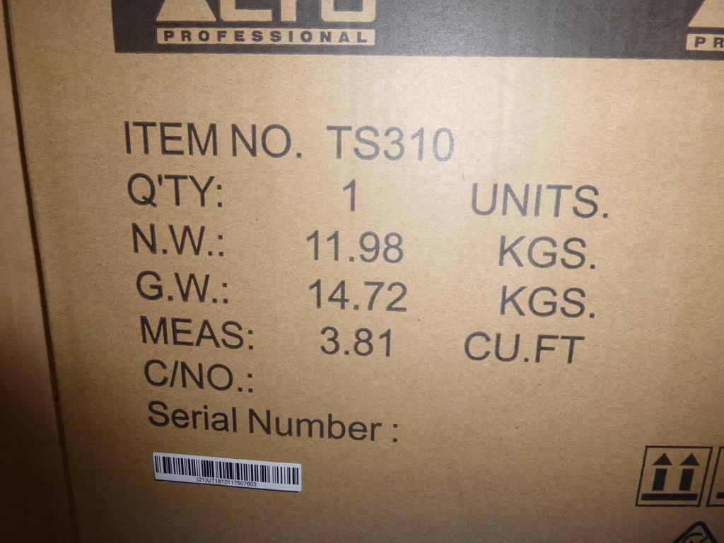 Lot 15 - * Alto Professional TS310 2000W 10'' Speaker, RRP £216