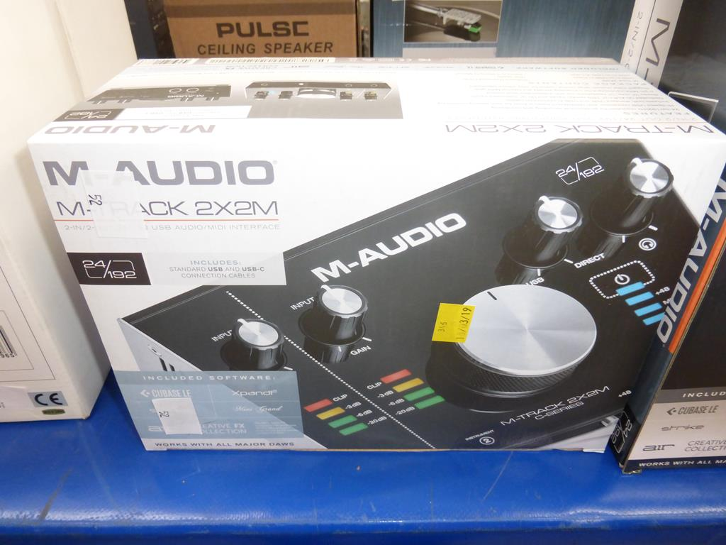 Lot 52 - * An M-Audio M-Track 2 X 2m Audio/Midi Interface with software (RRP £99)