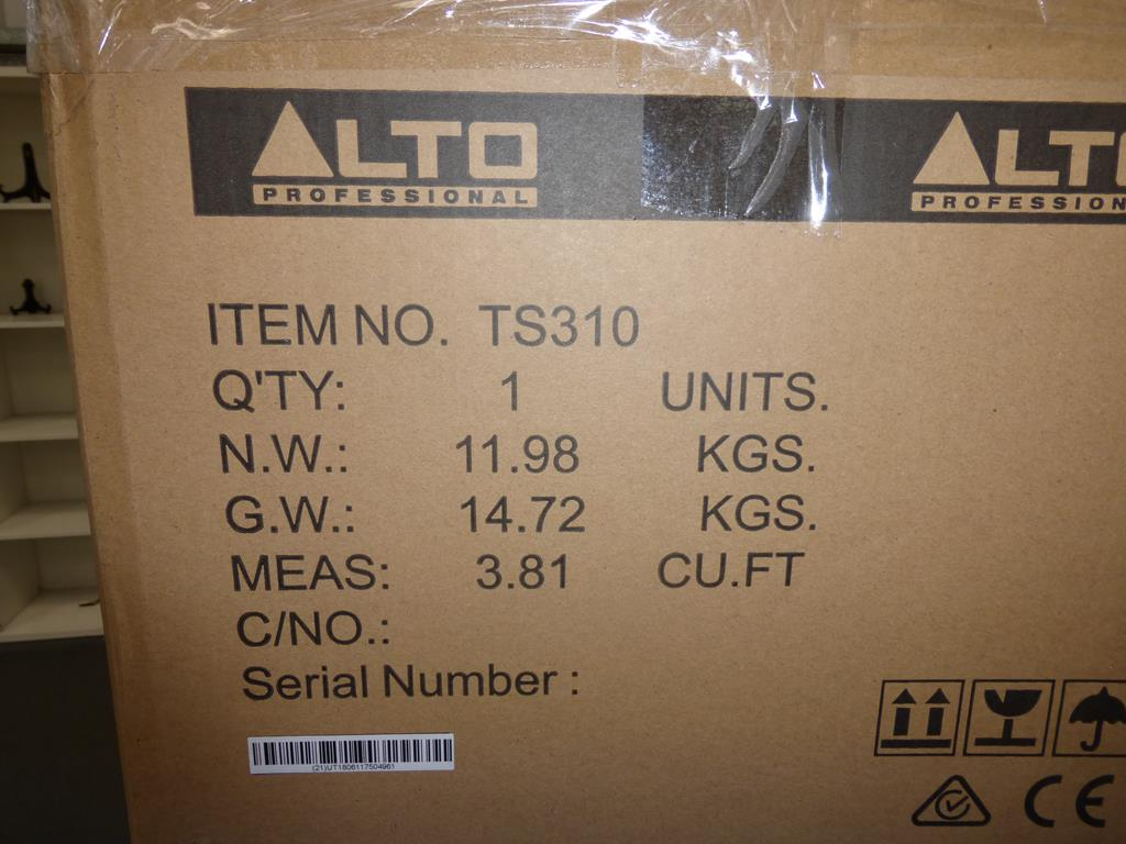 Lot 25 - * Alto Professional TS310 2000W 10'' Active Full Range Speaker, RRP £216