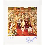A Rolling Stones Limited Edition Signed Print Of The Album Cover It's Only Rock 'N Roll mid 1990s