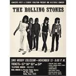 A Rolling Stones SMU Moody Coliseum Small Concert Poster 1969