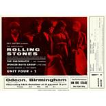 A Rolling Stones Concert Handbill For Two Shows At The Birmngham Odeon, UK 1965