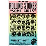 A Rolling Stones Promotional Poster For The Album Some Girls