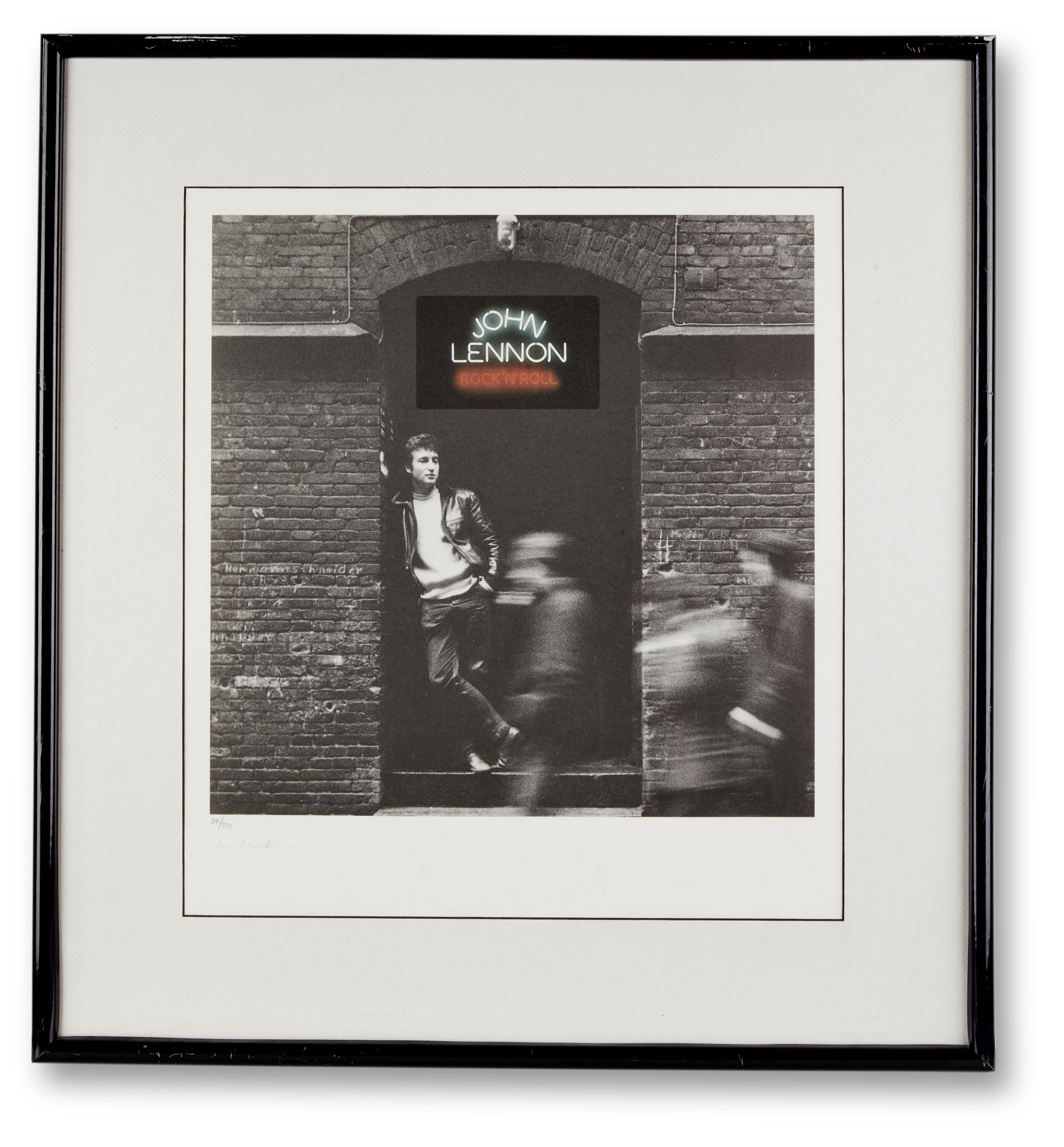 Lot 27 - A Limited Edition Print Of The Cover Of The John Lennon Album Rock 'n' Roll Signed By Yoko Ono mi...