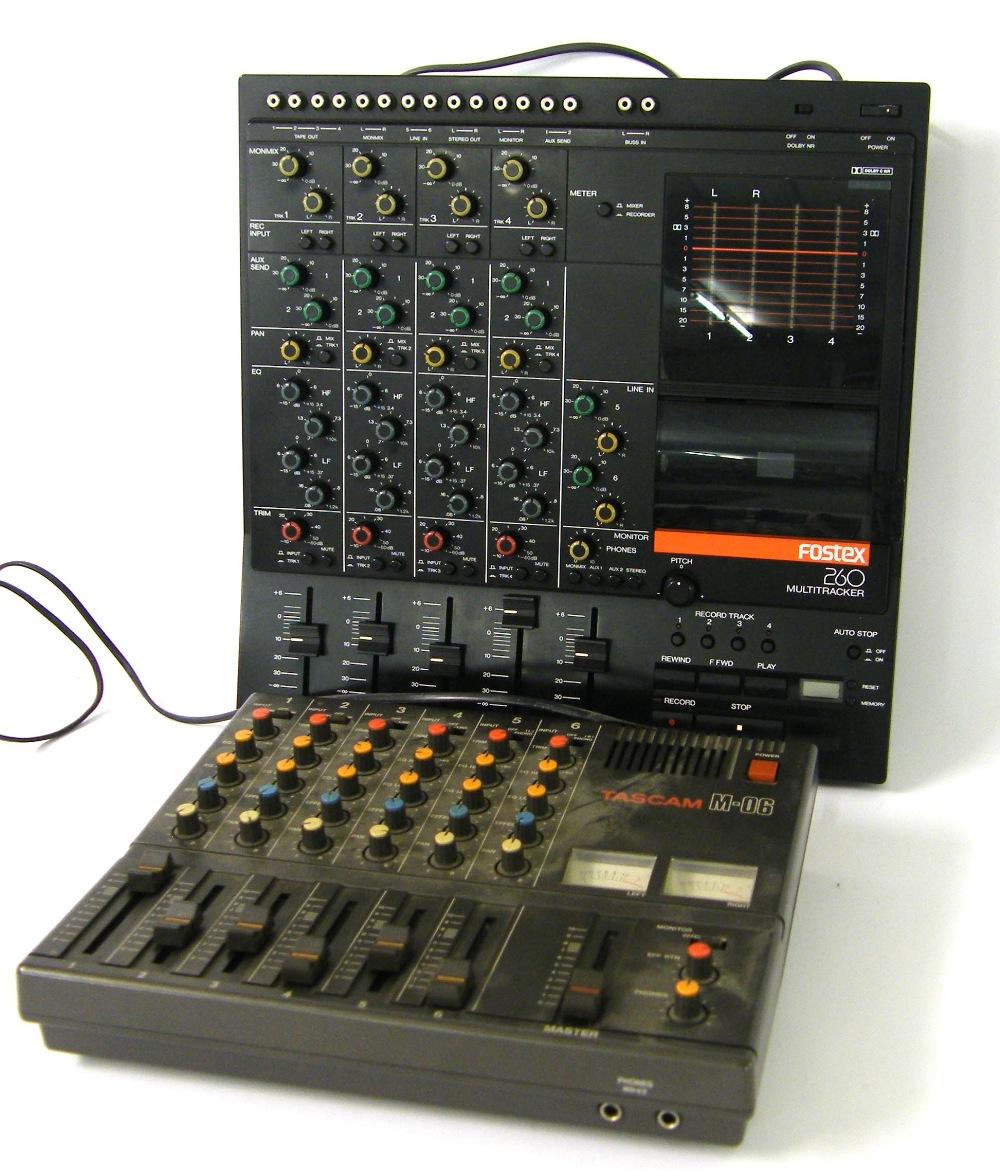 fostex 260 multi tracker recorder mixer ser no 0700501 box rh the saleroom com