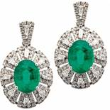 Diamantohrhänger mit Smaragd