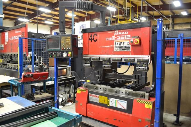1996 AMADA 4' X 38 Ton CNC Press Brake, Model FBD-III-3512FS, NC9-FS