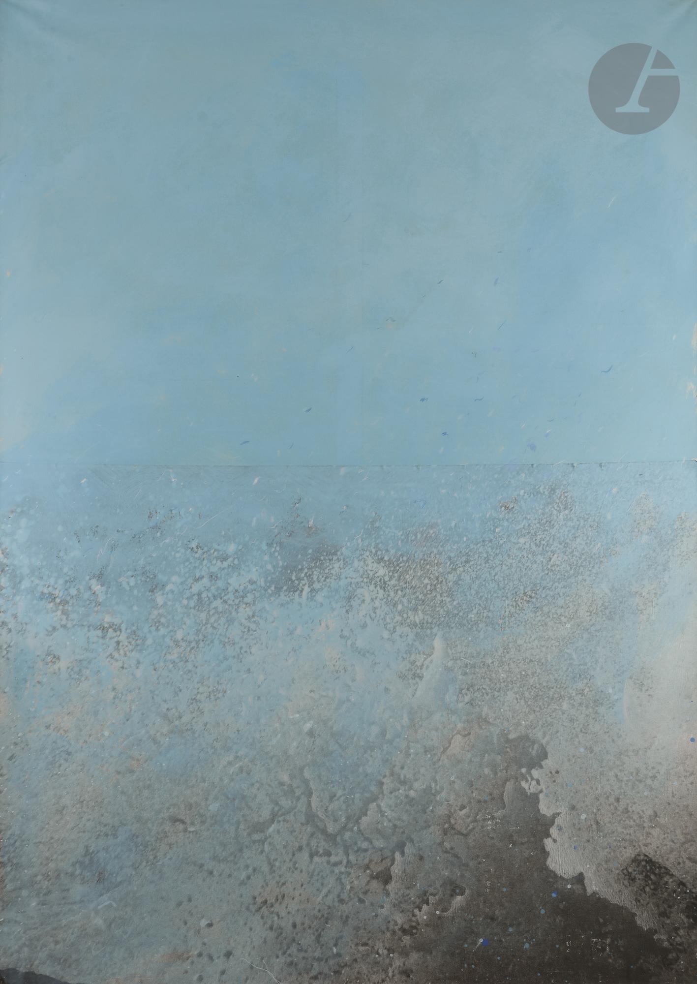 Lot 56 - Alfred HOFKUNST [autrichien] (1942-2004) La Mer est belle, 1982 Acrylique et pastel sur toile -