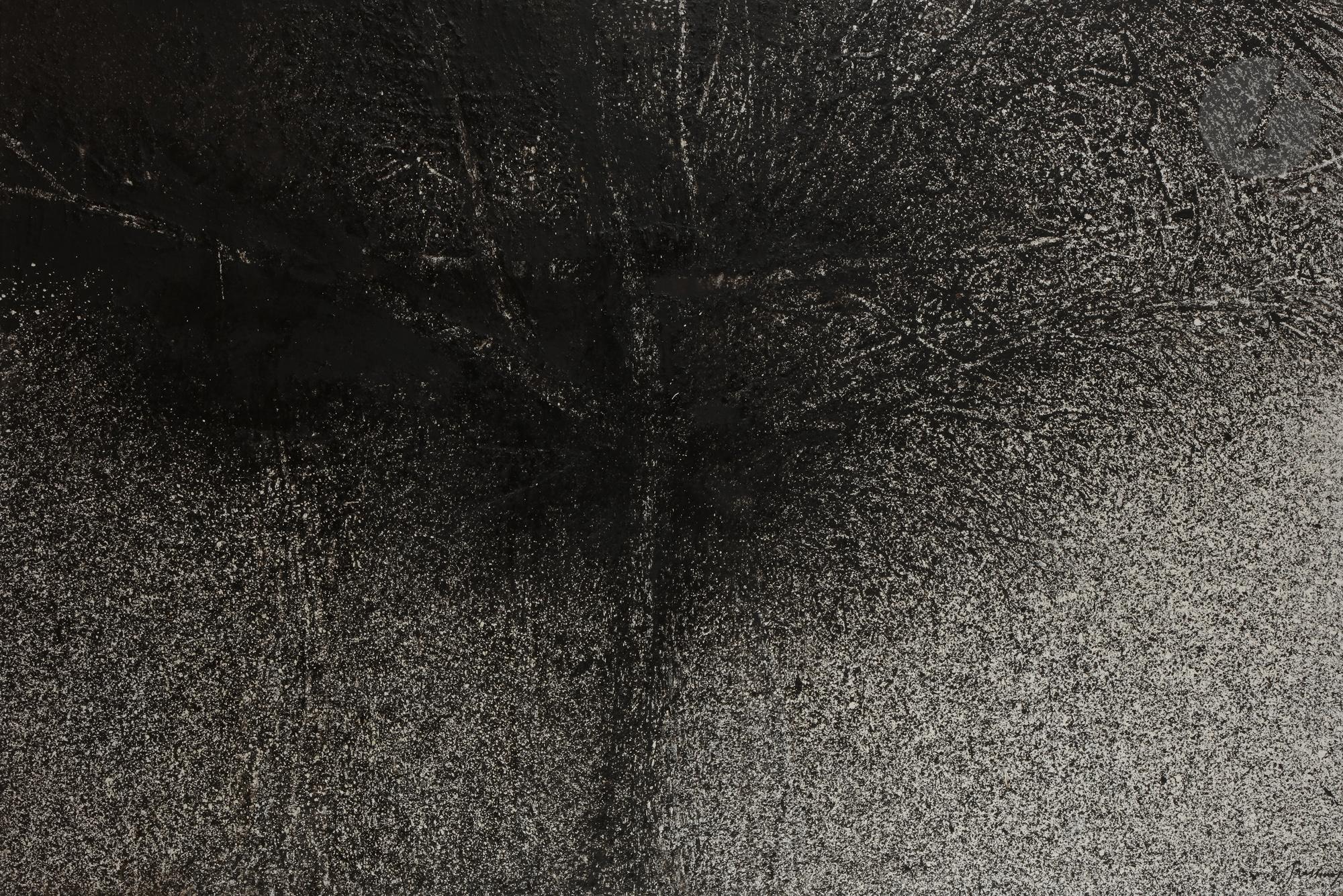 Lot 31 - Mario PRASSINOS (1916-1985) Grand arbre, 1981 Huile sur toile. Signée en bas à droite. Datée et