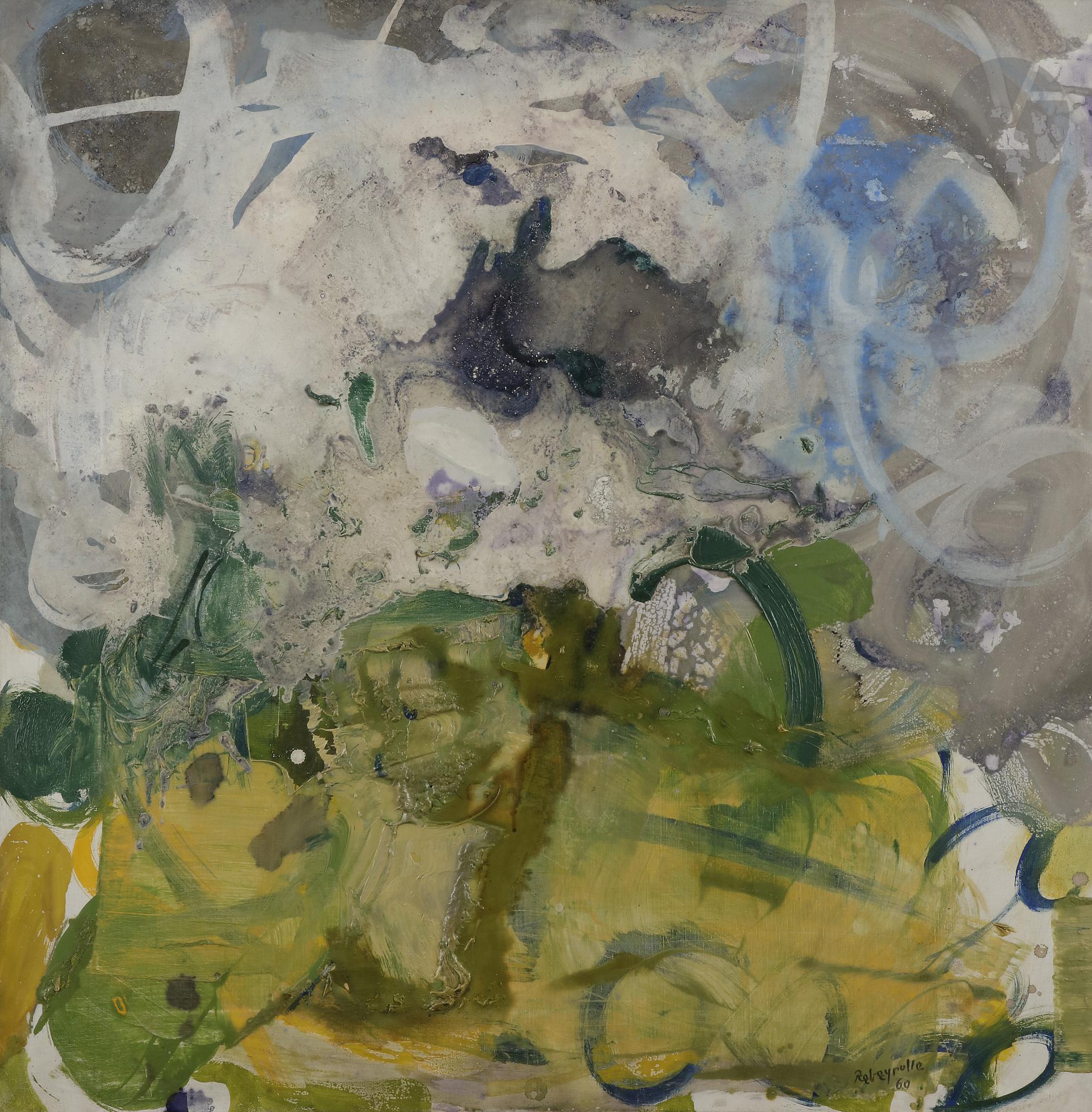 Lot 43 - Paul REBEYROLLE (1926-2005) Paysage, 1960 Huile sur toile. Signée et datée en bas à droite. (