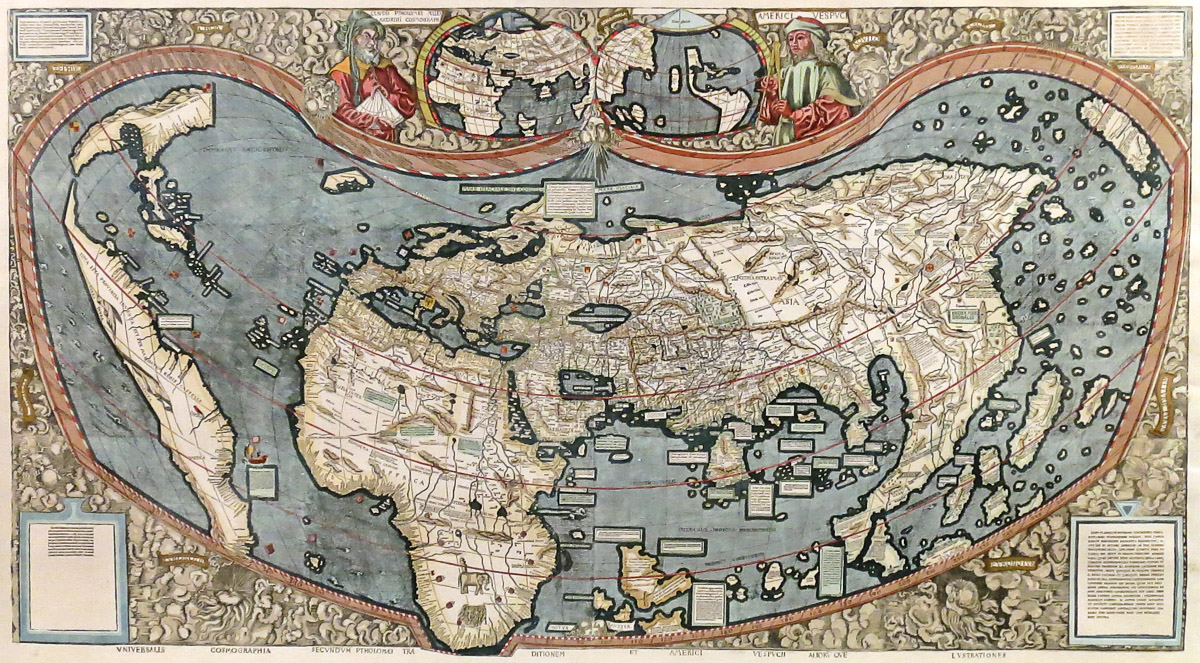 Lot 167 - (Mappemonde) - WALDSEEMÜLLER, Martin.- Universalis cosmographia secundum Ptholomaei [...]. [