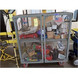 BANDING CART, w/screws, nuts, bolts, gas tank, etc.