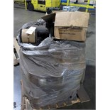 LOT OF RUBBER BELTS & ELECTRIC MOTORS (2) (on one pallet)