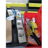 TOOLBOX, w/staple guns, staples & router bits