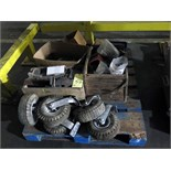 LOT OF CHAIN, NUTS, BOLTS, SHIMS, ETC. (on one pallet)