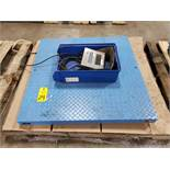 GSE 350 platform scale. Marked as 1000lb capacity. .2lb resolution.