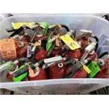 Qty 15 - Fire extinguishers.