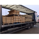 Lot 245 - ON SALE NOW....BEING SOLD....12 X PALLETS OF TONGUE AND GROOVED FLOORING BOARDS