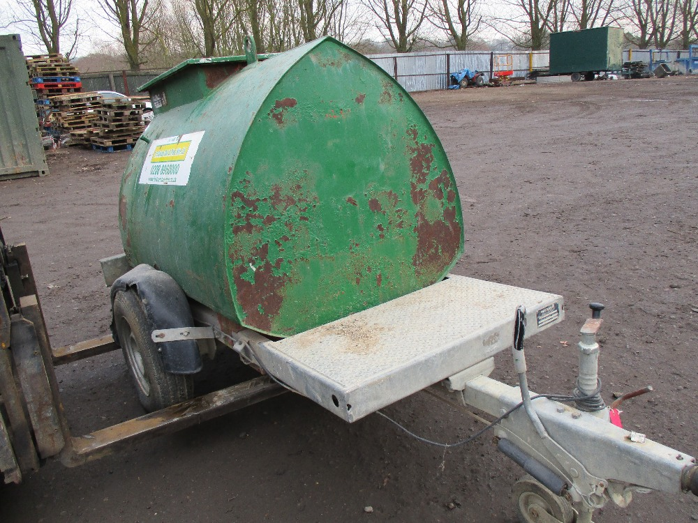 Lot 95 - Western ABBI 950 litre bunded bowser year 2008 build with K2 pump