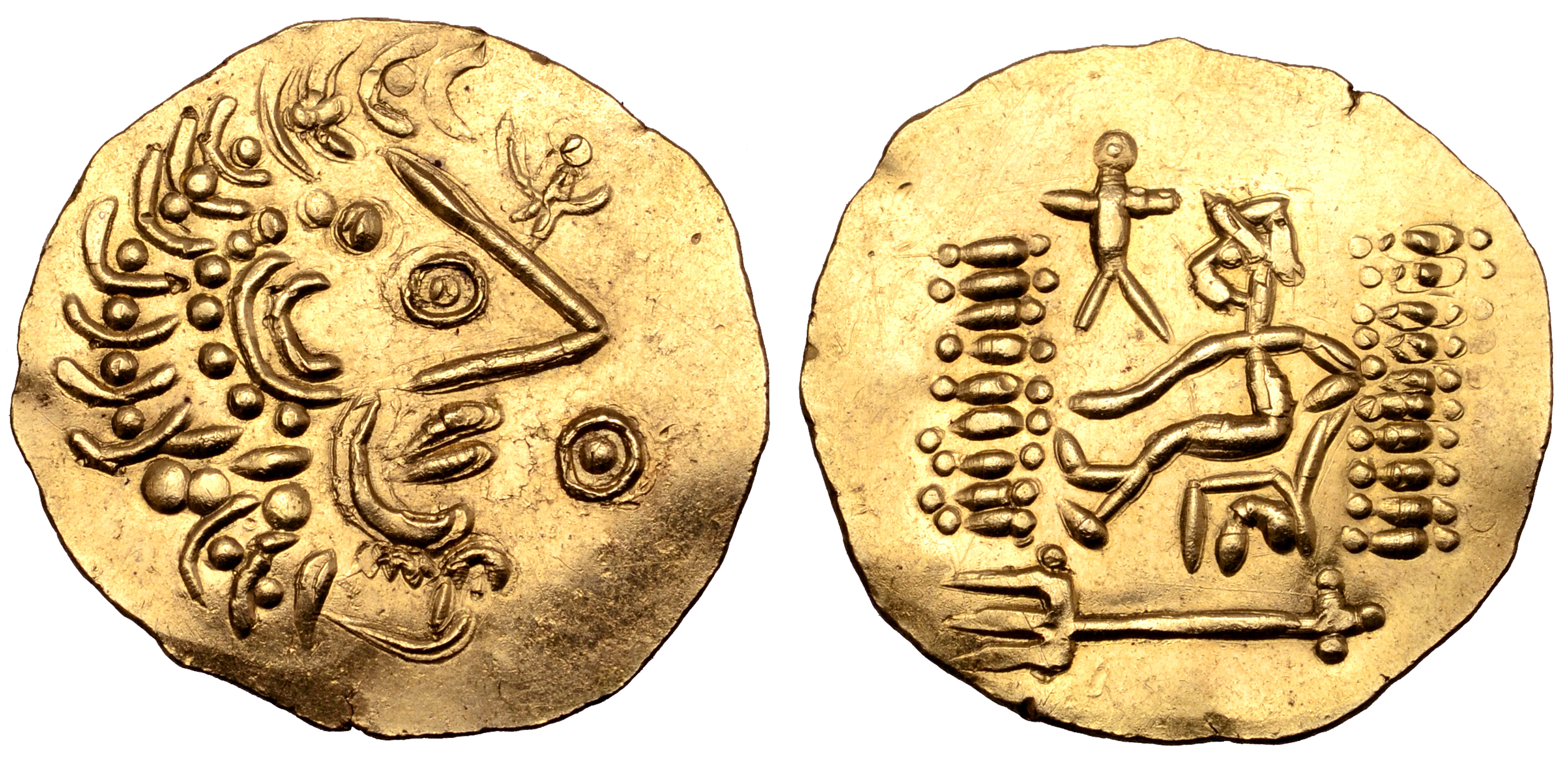 Celts in Eastern Europe AV Stater. Imitating types of Alexander and Lysimachos. Late 2nd - mid 1st