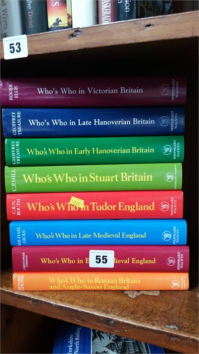 Lot 55 - 8 Volumes 'Who's Who in English history', various