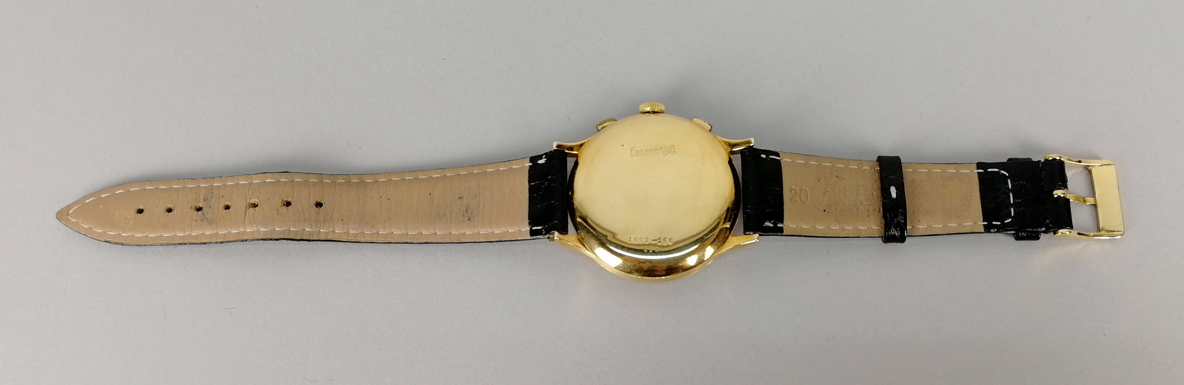 Lot 20 - EBERHARD. Orologio da uomo in oro giallo 18 kt., modello Chrono Extra-Fort, a carica manuale '