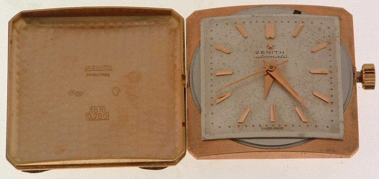 Lot 41 - ZENITH. Orologio da uomo automatico a martello in oro rosa 18 kt., modello Stellina Cioccolatone.