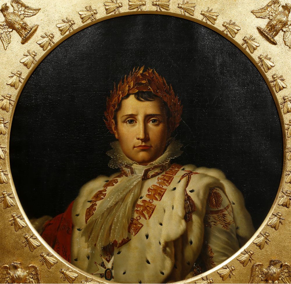 Lot 200 - After François Gérard (1770-1837) circa 1840 Napoleon I, oils on canvas, in gilded wood frame with