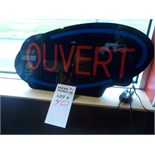 """LOT: Enseigne """"Ouvert"""" & Présentoir"""