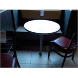 Table ronde de 28'' de diamètre