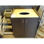 Cabinets pour déchets 2 portes