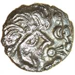 Thatcher's Sister. c.55-45 BC. Celtic silver unit. 13mm. 1.09g.