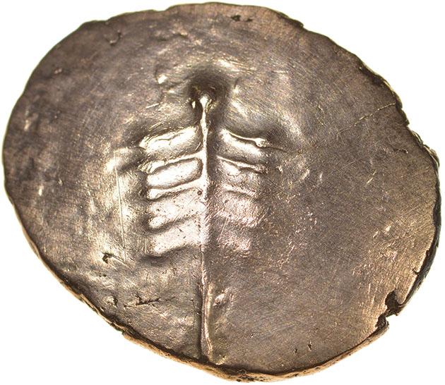 Eisu Tree. c.AD 20-43? Celtic gold stater. 17-21mm. 5.32g.