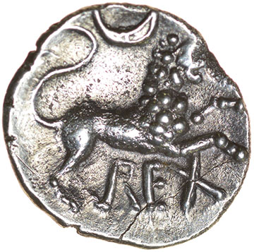 Lot 9 - Verica Circles. c.AD10-40. Celtic silver unit 12mm. 1.22g.