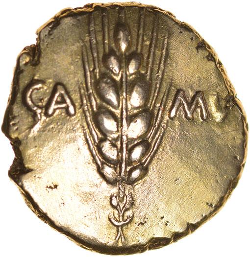 Lot 29 - Cunobelinus Classic. Arc Stem Type. c.AD 8-41. Celtic gold stater. 17mm. 5.46g.