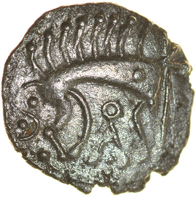 Cani Duro. Talbot dies A/1. c.AD 25-43. Celtic silver unit. 13mm. 0.92g.
