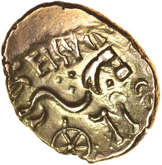 Eisu Tree. c.AD 20-43? Celtic gold stater. 17-21mm. 5.32g. - Image 2 of 2