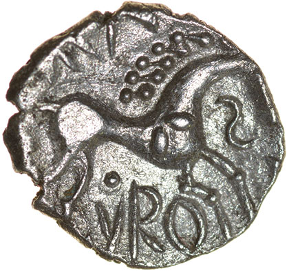 Cani Duro. Talbot dies A/1. c.AD 25-43. Celtic silver unit. 13mm. 0.92g. - Image 2 of 2