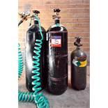 3 Assorted Nitrogen Gas Tanks