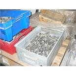 Pallet comprising assorted M12 and M16 stainless steel BOLTS