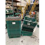 Approx 25 stack and nest PLASTIC BINS 600 x 400 x 180