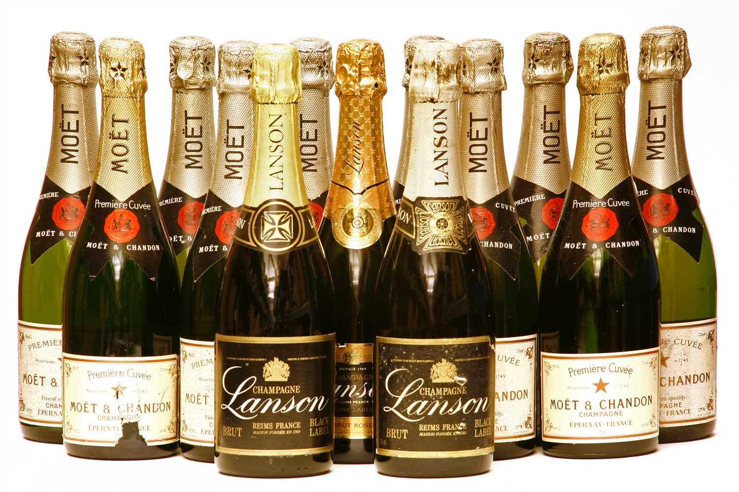 Lot 30 - Assorted non-vintage Champagne: Moet & Chandon, ten bottles, Lanson, three bottles