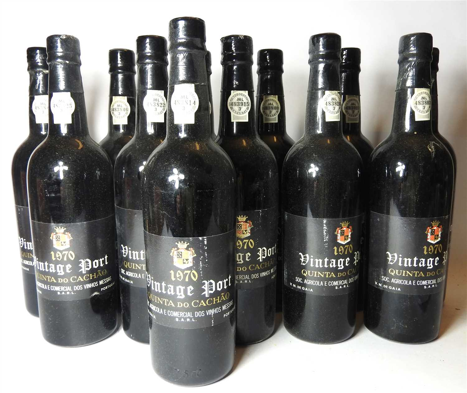 Lot 68 - Quinta do Cach?o, 1970, twelve bottles