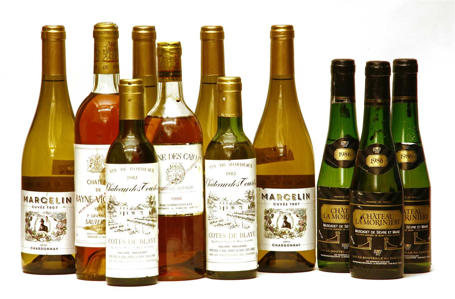 Lot 4 - Assorted white including Marcelin, 2013 plus others, six bottles and five half bottles in total