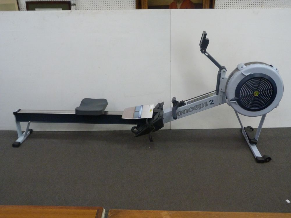 a concept 2 model d indoor rowing machine fitted with a. Black Bedroom Furniture Sets. Home Design Ideas