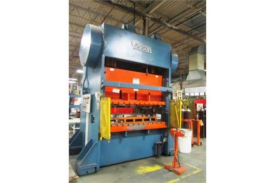 Verson model 150 b2 72 150 ton mechanical straight side for 12 x 72 window