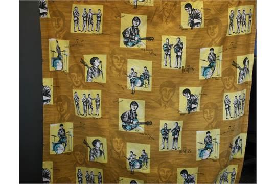THE BEATLES - pair of original Beatles curtains in gold, yellow ...