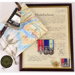 Lot 903 - A rare and important military honour medal group and related items to Major Antony Harrison Douglas